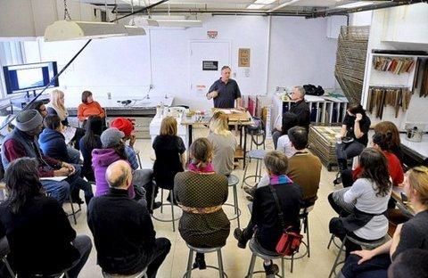 Maurice Kahn teaching