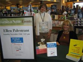 Ellen with Barnes and Noble's Caddie Duferrena