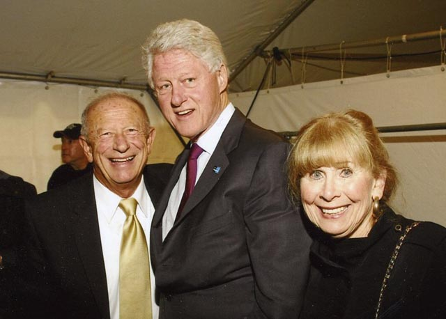 Sam, Dede and Bill Clinton