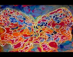 Painting:  A Lunaberry Moth