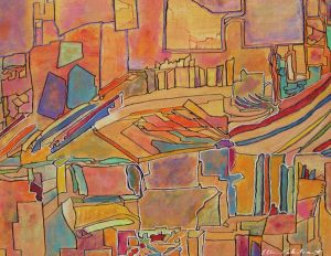 Painting: Tangerine City