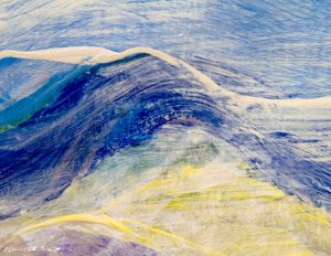Painting:  The Distant Blue Mountains